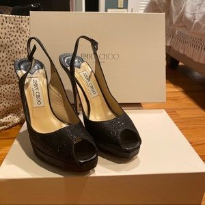 Jimmy Choo glitter black pumps in great condition